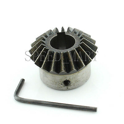 2pcs 1M-15T Metal Umbrella Tooth Bevel Gear Helical Motor Gear 15 Tooth 6mm Bore