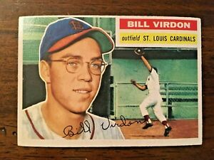 1956-Topps-Bill-Virdon-170-St-Louis-Cardinals-VG-EX-Crease-Free
