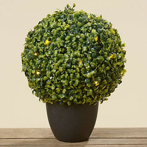 led buchsbaum im topf h 36 cm beleuchtete buchsbaumkugel kunstblume ebay. Black Bedroom Furniture Sets. Home Design Ideas