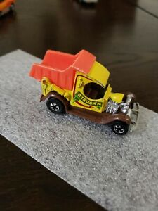 Vintage 1977 Hot Wheels Yellow and orange  A Truck'n Dump Truck Rare - truckin