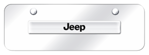 Jeep Chrome on Chrome Stainless Mini License Plate Official Licensed