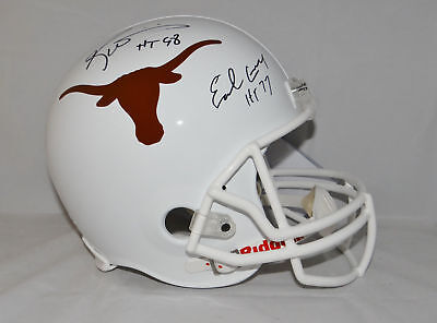 Earl Campbell Ricky Williams Ht Signed Longhorns F/s Riddell Helmet Jsa W Auth Helmets College-ncaa