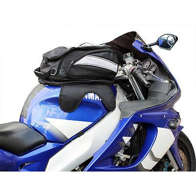 Black Motorcycle Sport Bike Riding Magnetic Gas Tank Bag Backpack w/ Rain Cover
