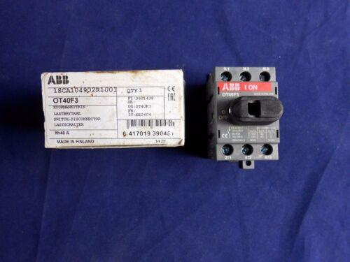 NEW IN BOX ABB OT40F3 SWITCH-DISCONNECTOR   1SCA104902R1001