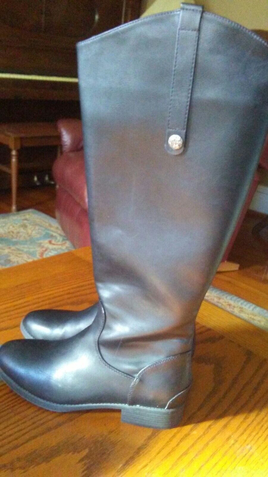 X APPEAL SZ 8 BLACK RIDING BOOTS   EMERY EMERY EMERY  96242a