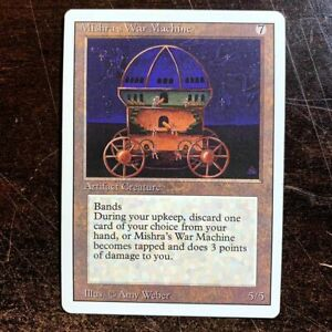 Mishra's War Machine Magic The Gathering Revised Edition MTG 3rd Ed HP 1994