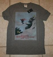 Abercrombie Boys Large Winter Sports Snow Skier Muscle Fit Graphic T-shirt
