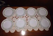 Bell Flower #2999 by Fine China of Japan White EIGHT Bread Plates
