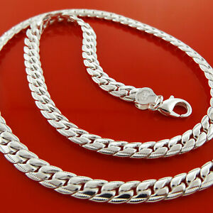 Necklace-Chain-Real-925-Sterling-Silver-S-F-Ladies-Antique-Link-Design-20-034