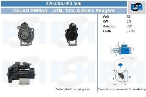 BV PSH Starter Anlasser Startanlage ohne Pfand 220.008.093.506