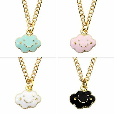 2019 Hot Pendant of Cute Smiling Cloud Gold Chain Childhood Necklace for Girl
