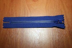 Fermeture éclair 14cm Bleu Marine Maille 5mm 1 curseur Non séparable NEUF FE70