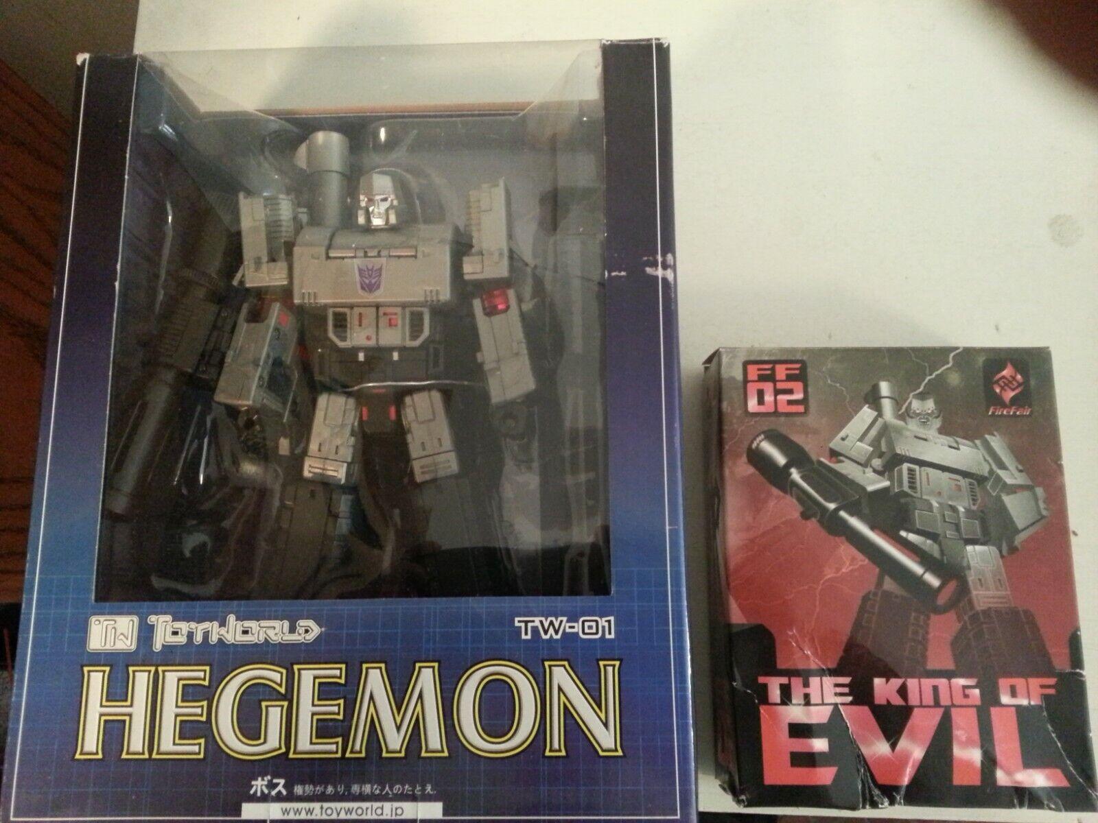 Transfomers Megatron Toyworld TW-01 Hegemon 1st ver w  King of Evil add on kit