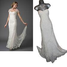 MONSOON Ivory Ellis Strapless Embellished Wedding Maxi Dress UK12  £699 NO SHRUG