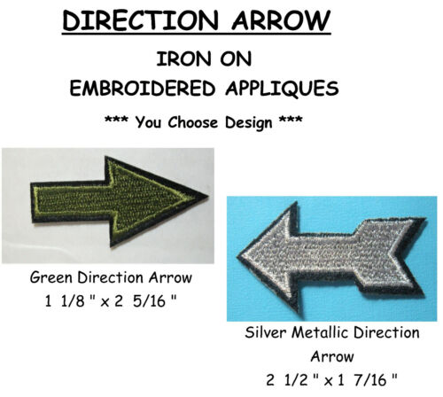 YOU CHOOSE DESIGN New DIRECTION ARROW Embroidered Applique Arrow Pointer