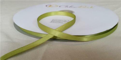 Double face qualité ruban satin marron chocolat artisanat mariage 6mm 100m roll 2m