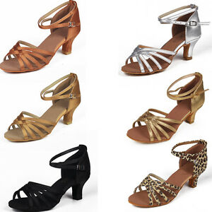 Size34-41-5cm-Heels-Women-039-s-Ballroom-Latin-Tango-Dance-Shoes-heeled-Salsa-213