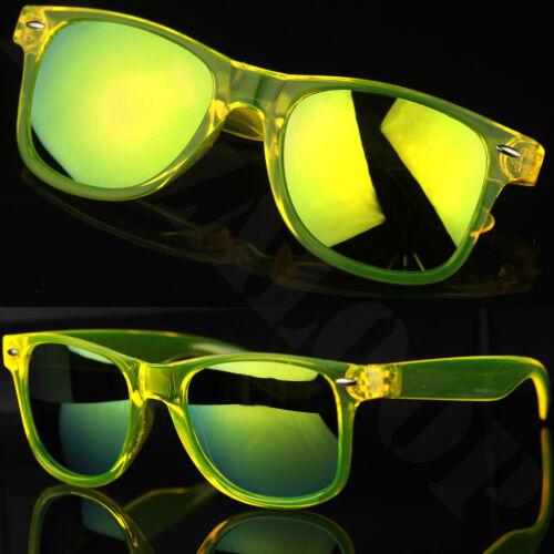 QUADRATO TRASPARENTE Clear Frame Lente a Specchio Occhiali da Sole Classic UV400