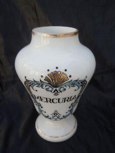 DéVoué Pot Pharmacie En Opaline Mercuria Pot Pharmacie D'époque 19ème