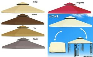 Replacement-Canopy-8-039-X8-039-10x10-039-Gazebo-Sunshade-2-Tier-Patio-Pavilion-Cover-Top