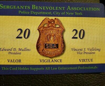 LBA CARD COLLECTOR/'S ITEM NEW 2020 NYPD Lieutenants Benevolent Assoc