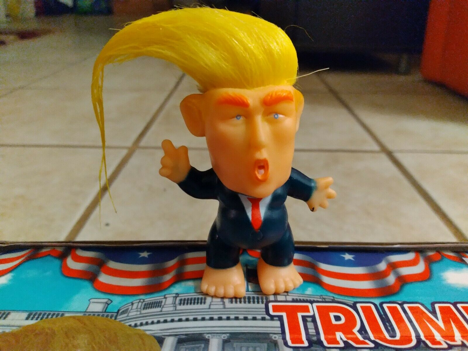 PRESIDENT DONALD TRUMP COLLECTIBLE TROLL DOLL MAKE AMERICA GREAT AGAIN FIGURE @
