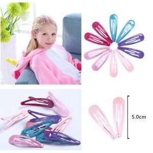 18-20pcs Color Metal Snap Pins Hair Clips Barrettes Children Hairpins Baby 5cm