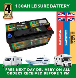 12v 130ah Leisure Battery High Power Deep Cycle 4yr Warranty Caravan Campervan