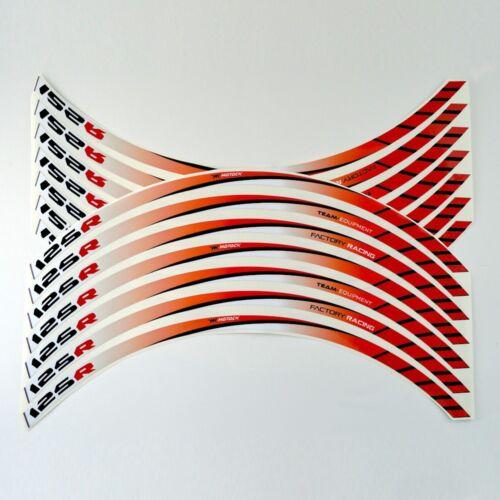 FRFR Liseret jantes Honda CBR 125 R125 R 125R Rouge autocollant jante roue vinyl