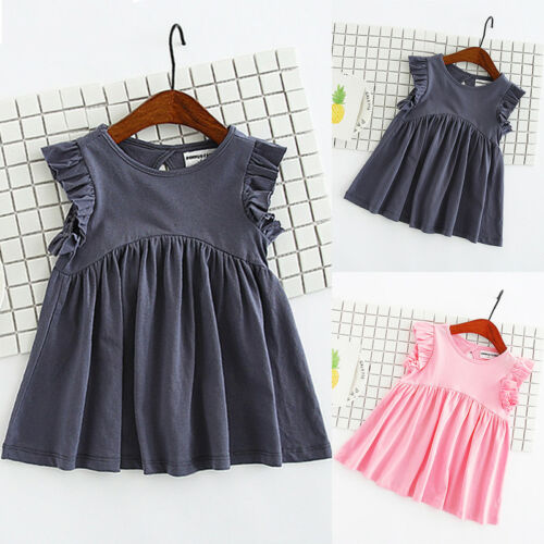 1-6T Girl Princess Dress Kid Baby Party Wedding Pageant Formal Dresses Clothes
