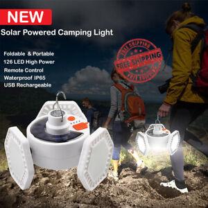 NEW Solar 126 Led Light Camping Lantern Foldable Portable Waterproof FREE SHIPP
