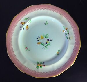 Calyz-Ware-Hand-Painted-Plate-2087-Adams-England-Pink-Floral