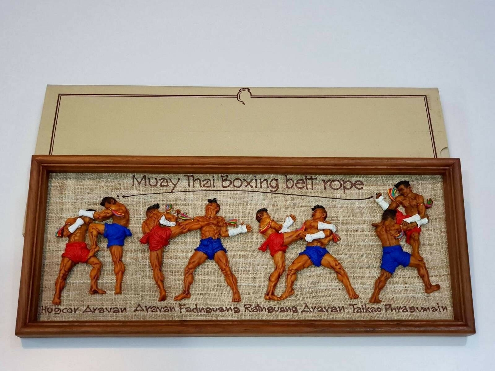 Souvenir frame sport boxing (Muay Thai Boxing belt rope )