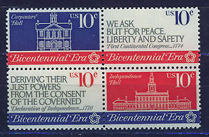 ESTADOS-UNIDOS-USA-1974-MNH-SC-1543-1546-1st-Continental-Congress