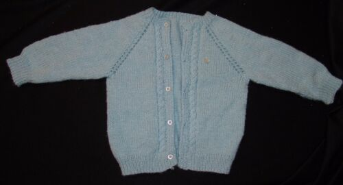 Vtg Baby Blue Sweater Cardigan Boys Baby Toddler 2T 3T