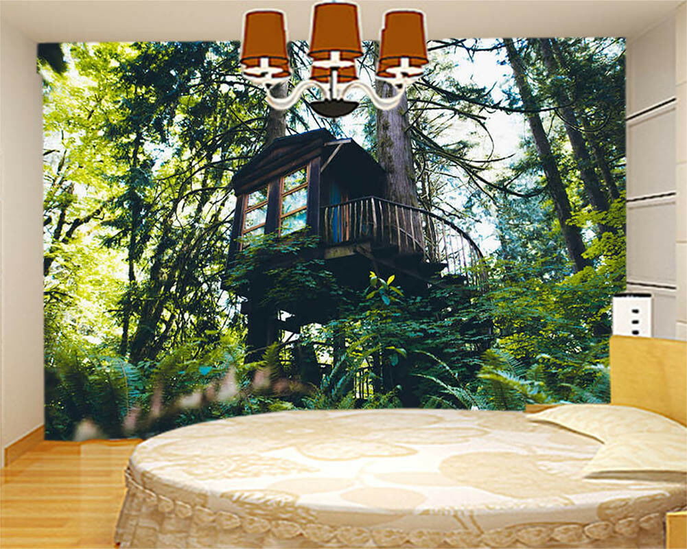 Norwegian Wood House 3D Full Wall Mural Photo Wallpaper Printing Home Kids Decor