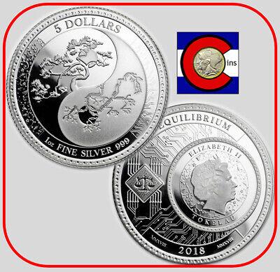 Pressburg Mint 2018 2019 2020 Tokelau Equilibrium $5 3-1 oz BU Silver Coins