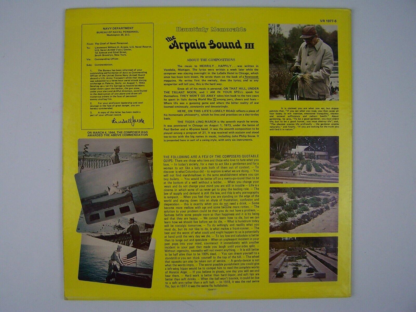 William Howard Arpaia - The Arpaia Sound III Vinyl LP R