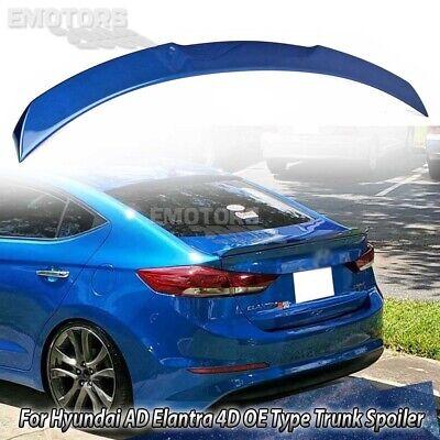 Painted For Hyundai Elantra AD 6 4D Sedan V Type Rear Trunk Boot Spoiler 16~18