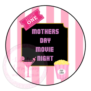 Mothers-Day-Movie-Night-Popcorn-Family-Film-Cinema-Sweet-Cone-Party-Kids-Labels