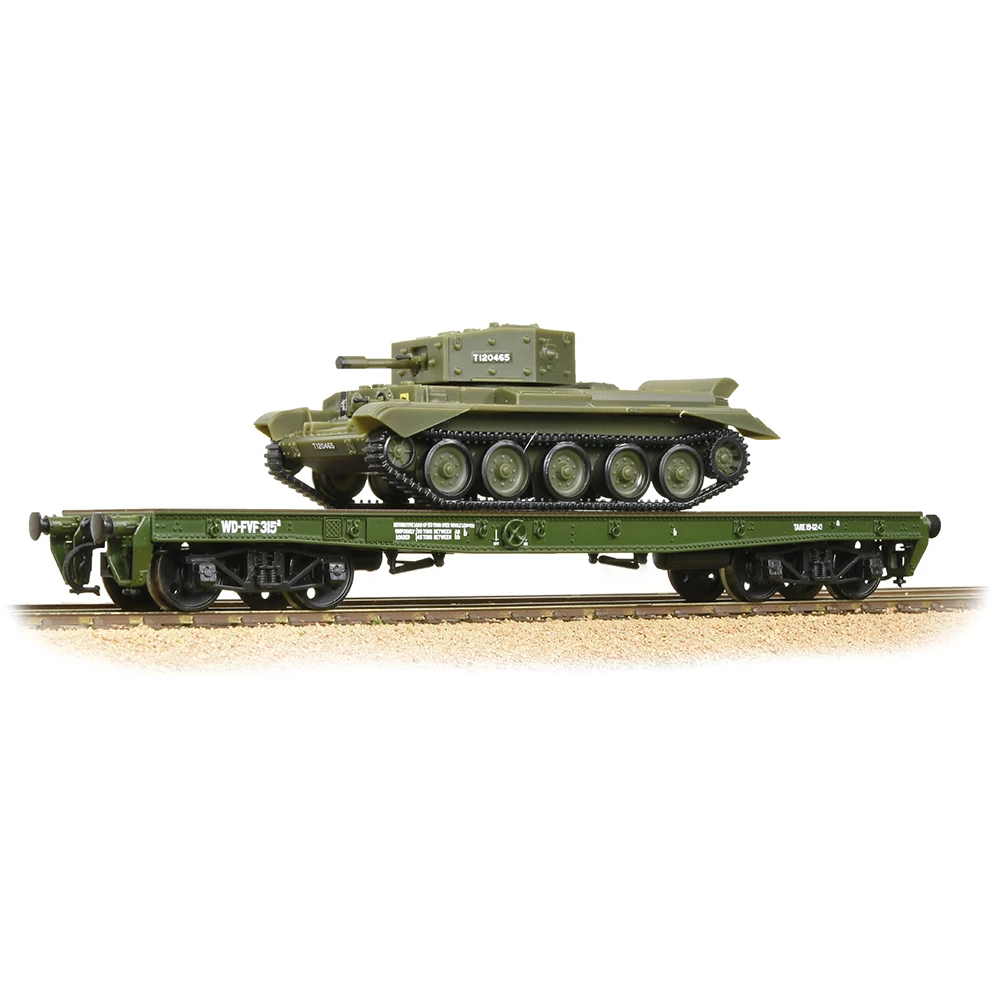 Bachuomon 38725 OO Gauge WD Warflat Wagon Khaki verde Cromwell Tank