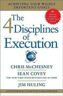 1 of 1 - The 4 Disciplines of Execution...CHRIS McCHESNEY...HARDCOVER...VGC..lnf334