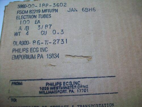 JAN PHILIPS 6BH6 CASE LOT