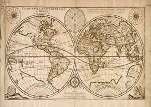 Vintage world map vintage art print poster a1 a2 a3 a4 a5 ebay image is loading vintage world map vintage art print poster a1 gumiabroncs Image collections