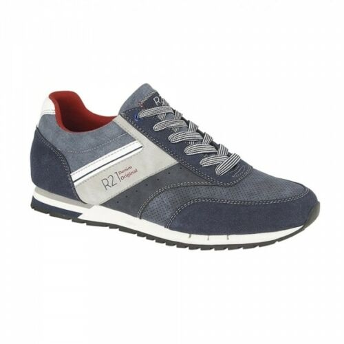 Route 21 ARBOUR Mens Faux Suede Lace Ups Casual Everyday Wear Trainers Navy