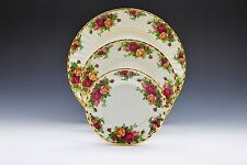 Royal Albert Old Country Roses Dinner Salad Bread Plate- Set of 3