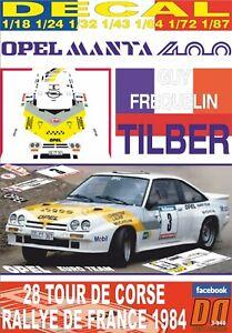 DECAL-OPEL-MANTA-400-G-FREQUELIN-TOUR-DE-CORSE-1984-9th-12