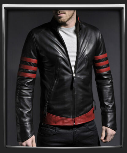 Black Sizes Genuine And In Leather Red Biker Stylish Mens Jackets Fashion All 5jLq4RA3