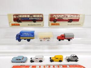 CG242-0-5-9x-Brekina-H0-1-87-Modell-DKW-Mercedes-Opel-VW-Stern-Maengel