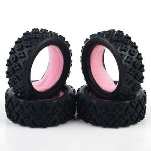 Rubber 4Pcs Rally Tires/&sponge PP0487 For HSP HPI RC 1:10 Off Road Moder Car
